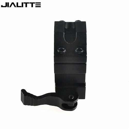 Быстросъёмное крепление с зажимом (Эксцентрик) на планку  Weaver или Picatinn JIALITTE J074  Размер крепления :53*45*20мм. Для фонарей 25 мм.