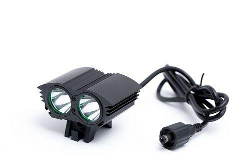 Велофара. 2000 люмен.  Два отдельных светодиода.Три режима яркости