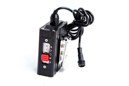 Легкий фонарик с клипсой и выносным блоком питания. USB зарядка