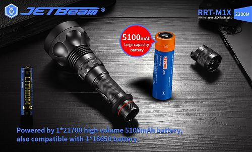 Супер дальнобойный лазерный фонарь JETBeam RRT-M1X WP-T2 Laser  дальность больше 2 км!