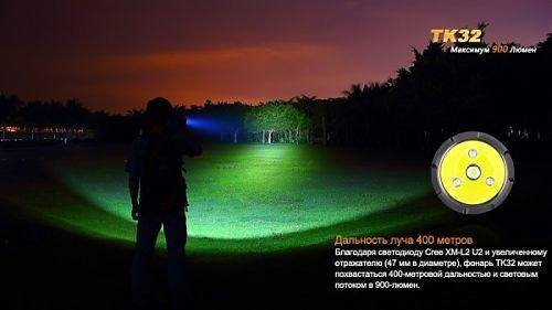 Компактный тактический фонарь с дополнительными цветными светодиодами