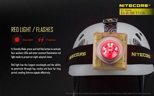 Взрывозащищенный налобный фонарь с красными светодиодами