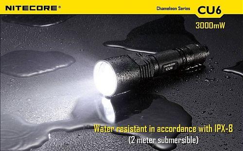 Фонарь NiteCore Chameleon CU6  Белый светодиод 440 лм. + ультрафиолетовый 3000mW/365nm