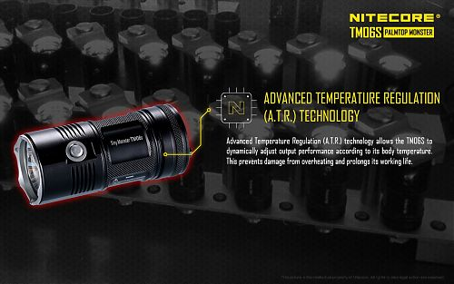 Фонарь Nitecore TM06S  Компактный размер. 4000 лм.