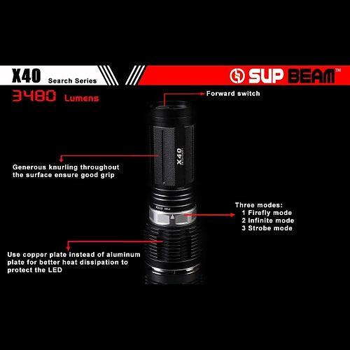 Поисковый фонарь Supbeam X40