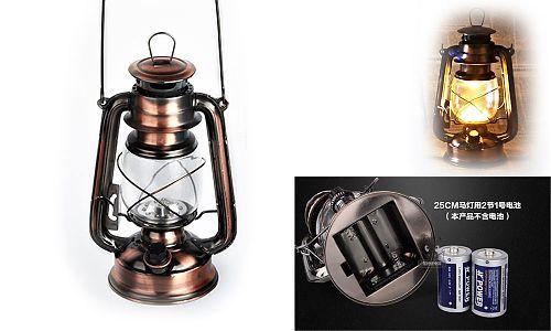 Точная копия керосиновой лампы. Плавная регулировка. до 80 ч. на батарейках D