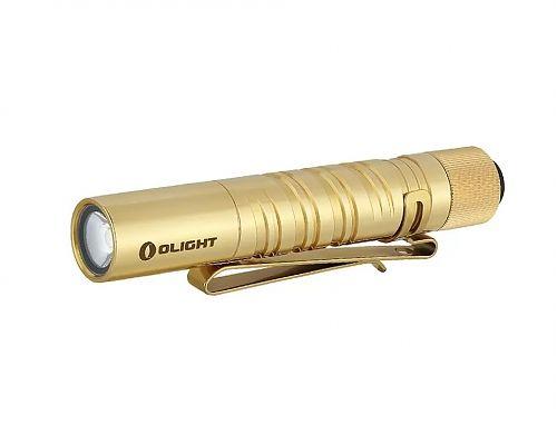 Тактический карманный фонарь Olight i3T Brass купить с доставкой по России в магазине Fonariki.ru  Светодиод Philips LUXEON. Прочный водонепроницаемый корпус.