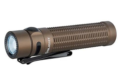 Тактический светодиодный фонарь Olight Warrior Mini Desert Tan купить на ФОНАРИКИ.РУ с гарантией от производителя  Мощный светодиод Luminus SST-40 Cool white с повышенной цветопередачей CRI 70.