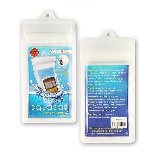 Водонепроницаемый чехол Aquabag AB-01W  Водонепроницаемый, прозрачный чехол 17x11 см для защиты телефона и документов