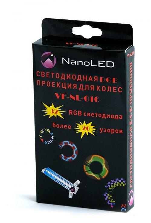 Светодиодная проекция на колесо VF-NL-016  32 светодиода красного. Синего, желтого и белого цветов