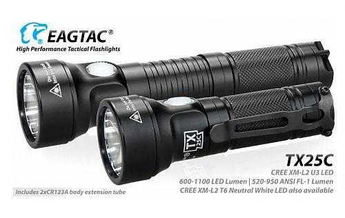 EDC-фонарик EagleTac TX25C CREE XM-L2 U3  Компактный и удобный EDC-фонарик. Меняющаяся яркость в зависимости от типа и количества элементов питания