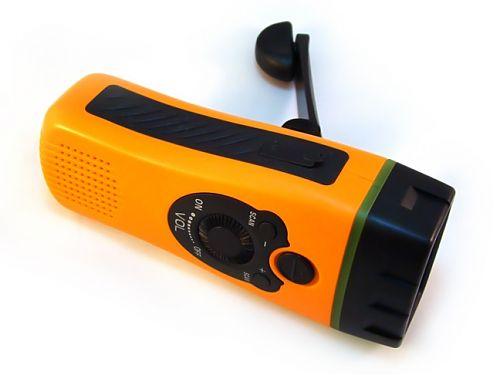 Самозарядный фонарь. Радио. Сирена